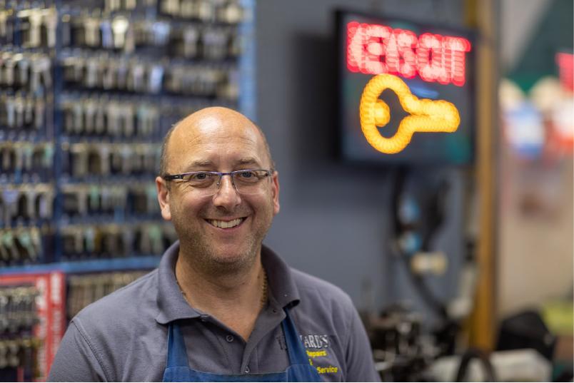 Richard for Richard's Shoe Repair and Key Cutting Services - Freeman Street Market