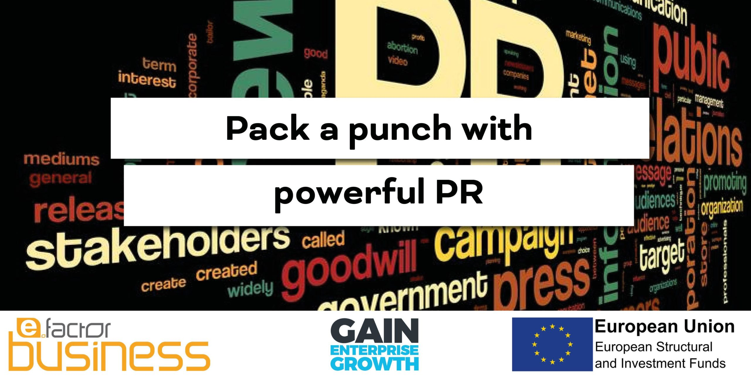 GAIN Pack a punch with powerful PR Workshop