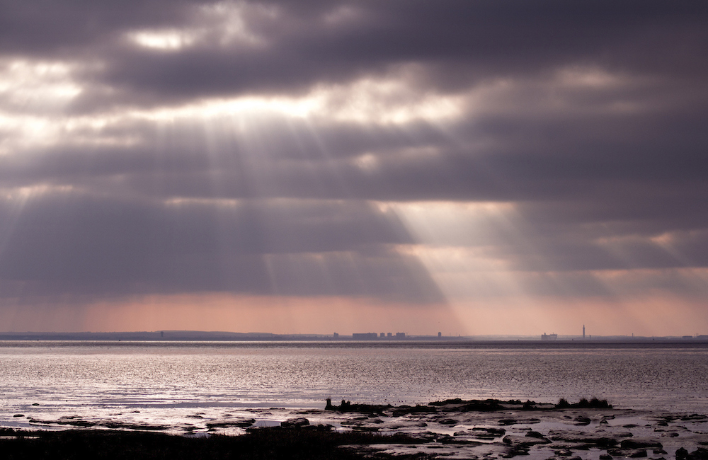 View of Grimsby from Spurn Point, East Yorkshire