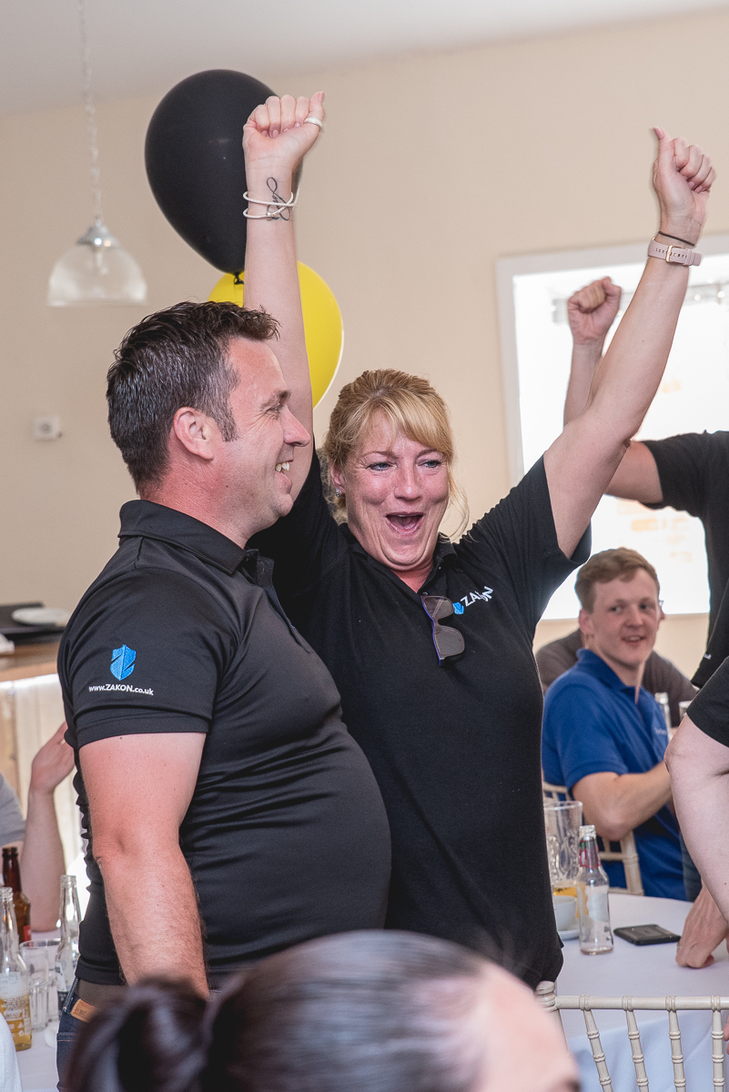 People Celebrating at a Business Hive Networking event
